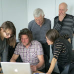 Coachning i WordPress med kursdeltagare i WordPress grundkurs hos SFF