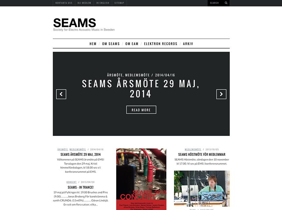 SEAMS - Första sidan