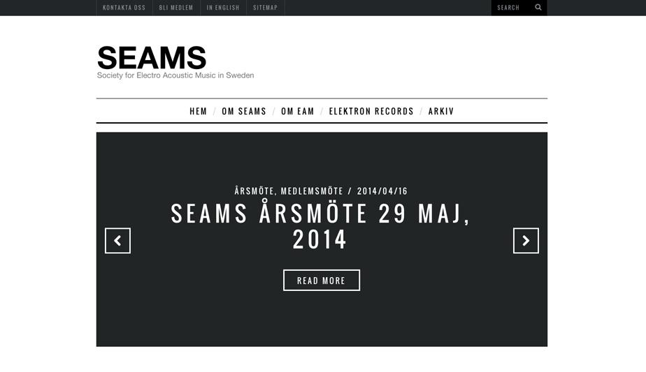 SEAMS släpper ny hemsida i WordPress
