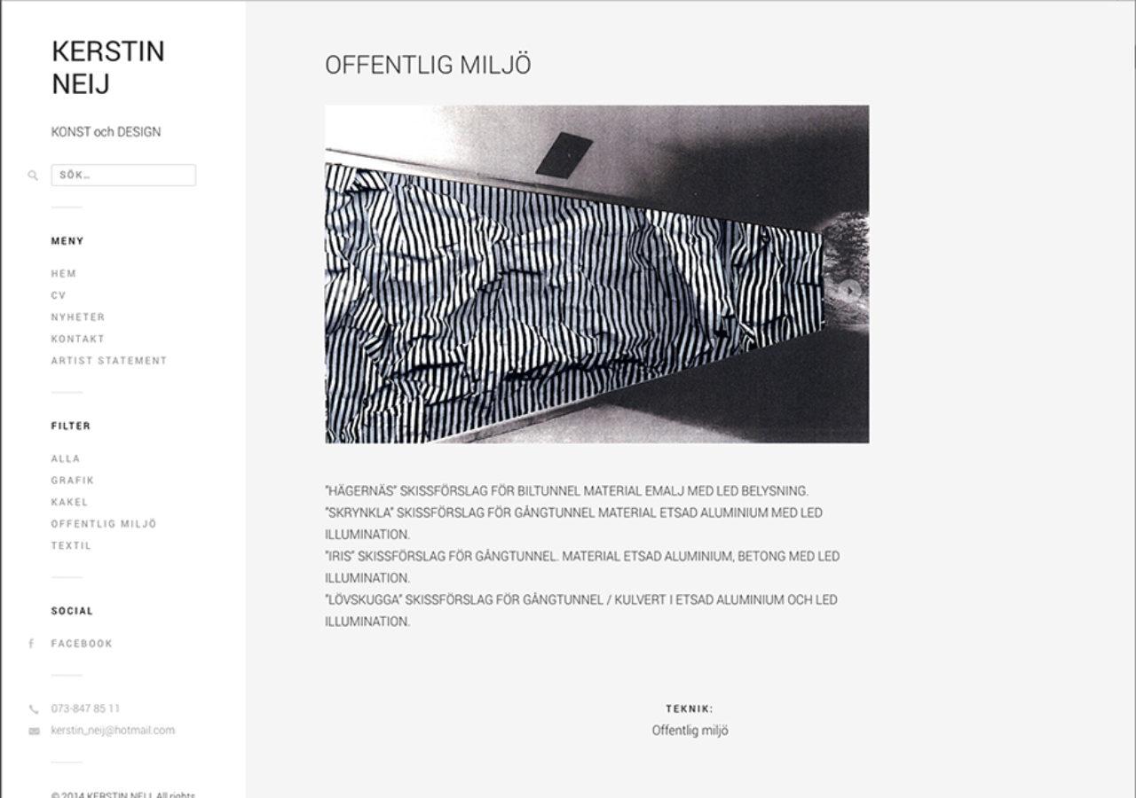 Kerstin Neij - offentlig konst