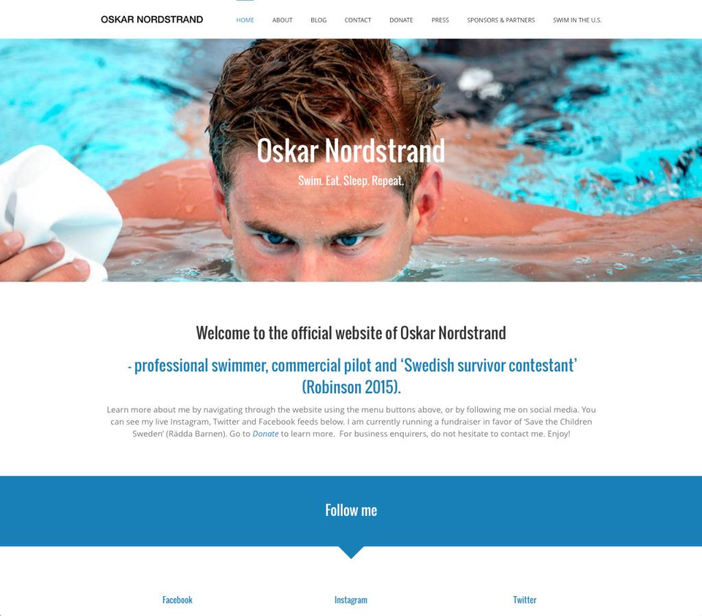 Oskar Nordstrands nya hemsida