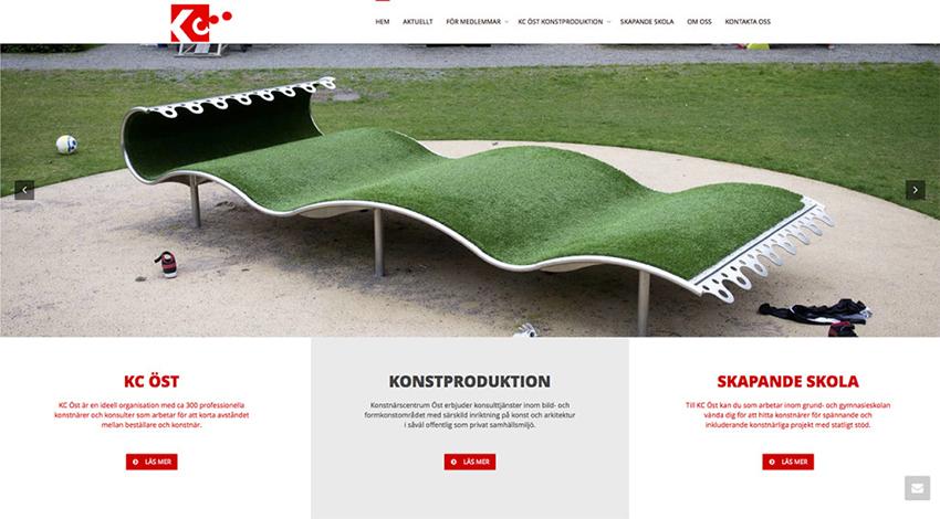 Konstnärscentrum Öst – ny hemsida