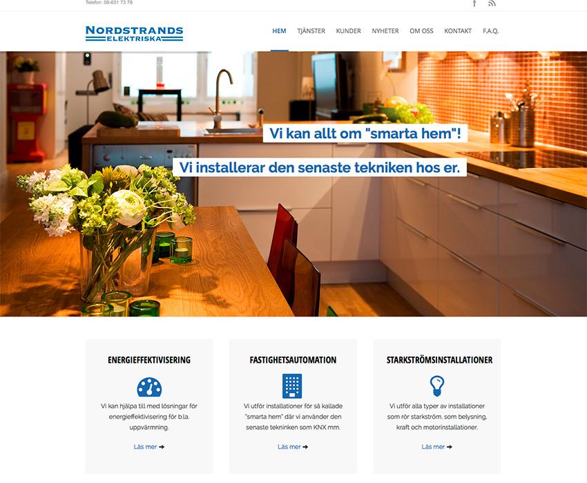 Nordstrands Elektriskas nya hemsida släppt