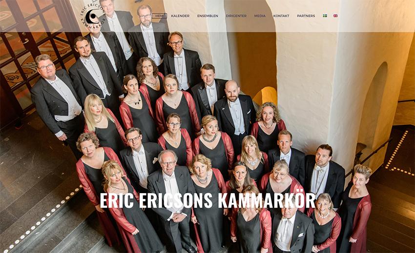 Eric Ericsons Kammarkör släpper ny hemsida