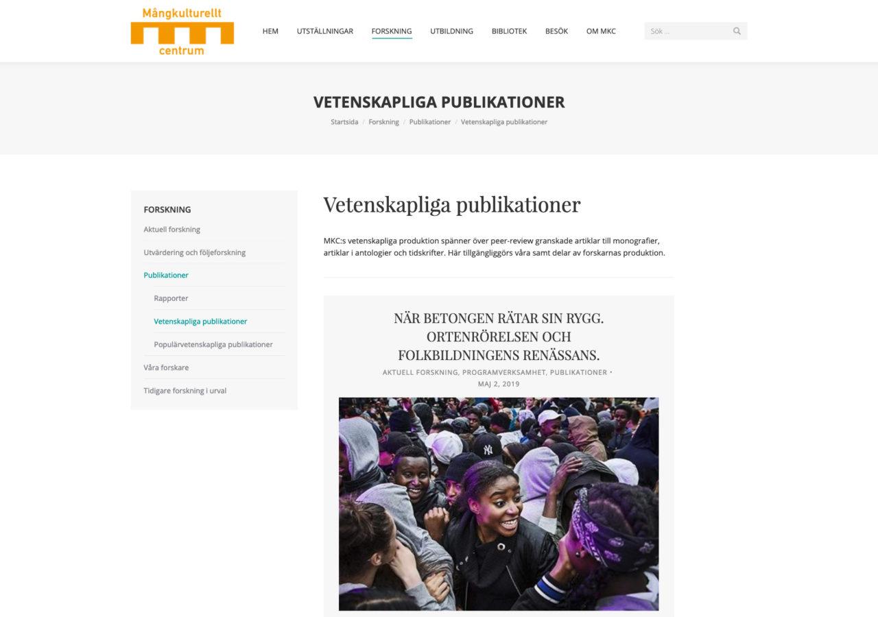 MKC-Vetenskapliga publikationer