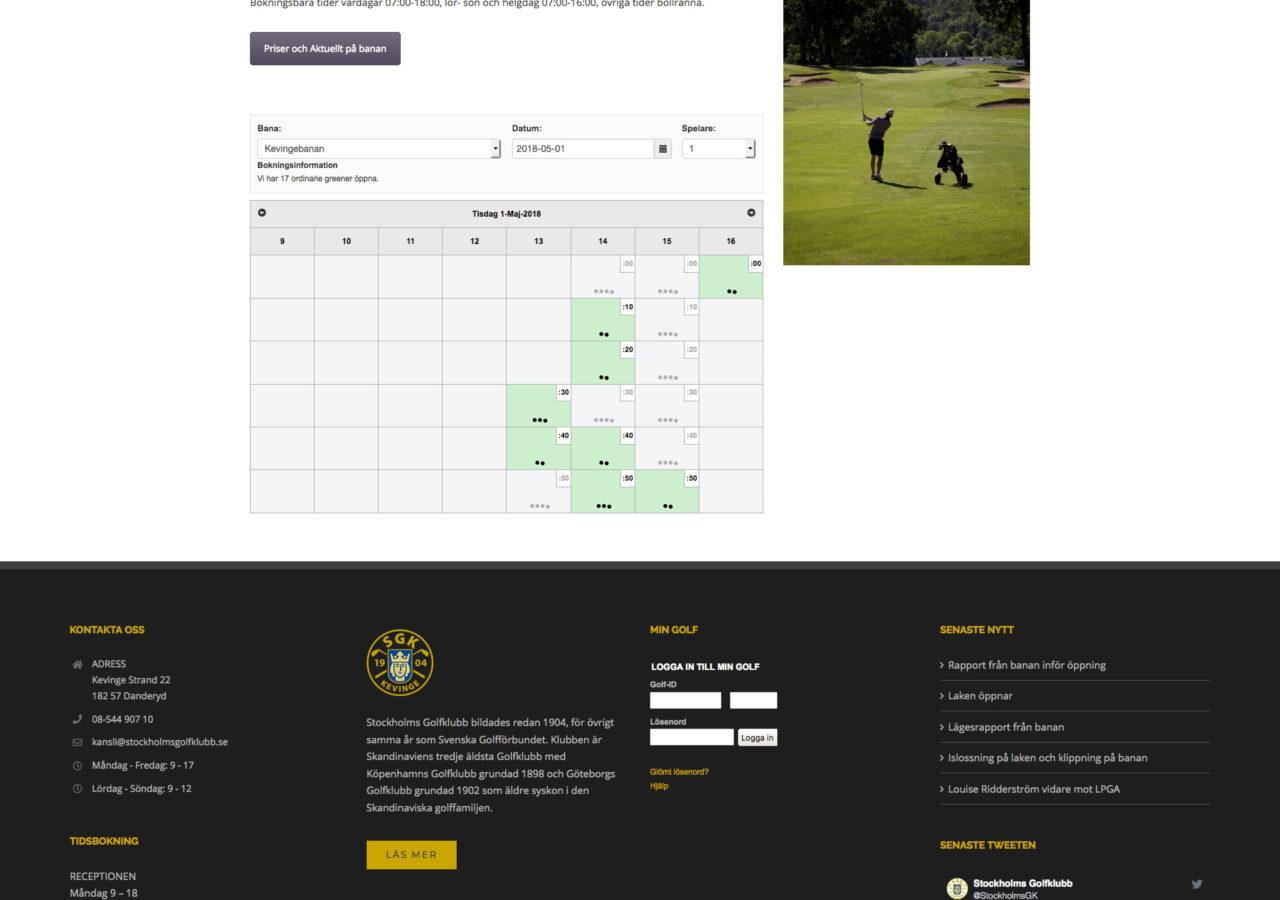Boka tid - Stockholms Golfklubb