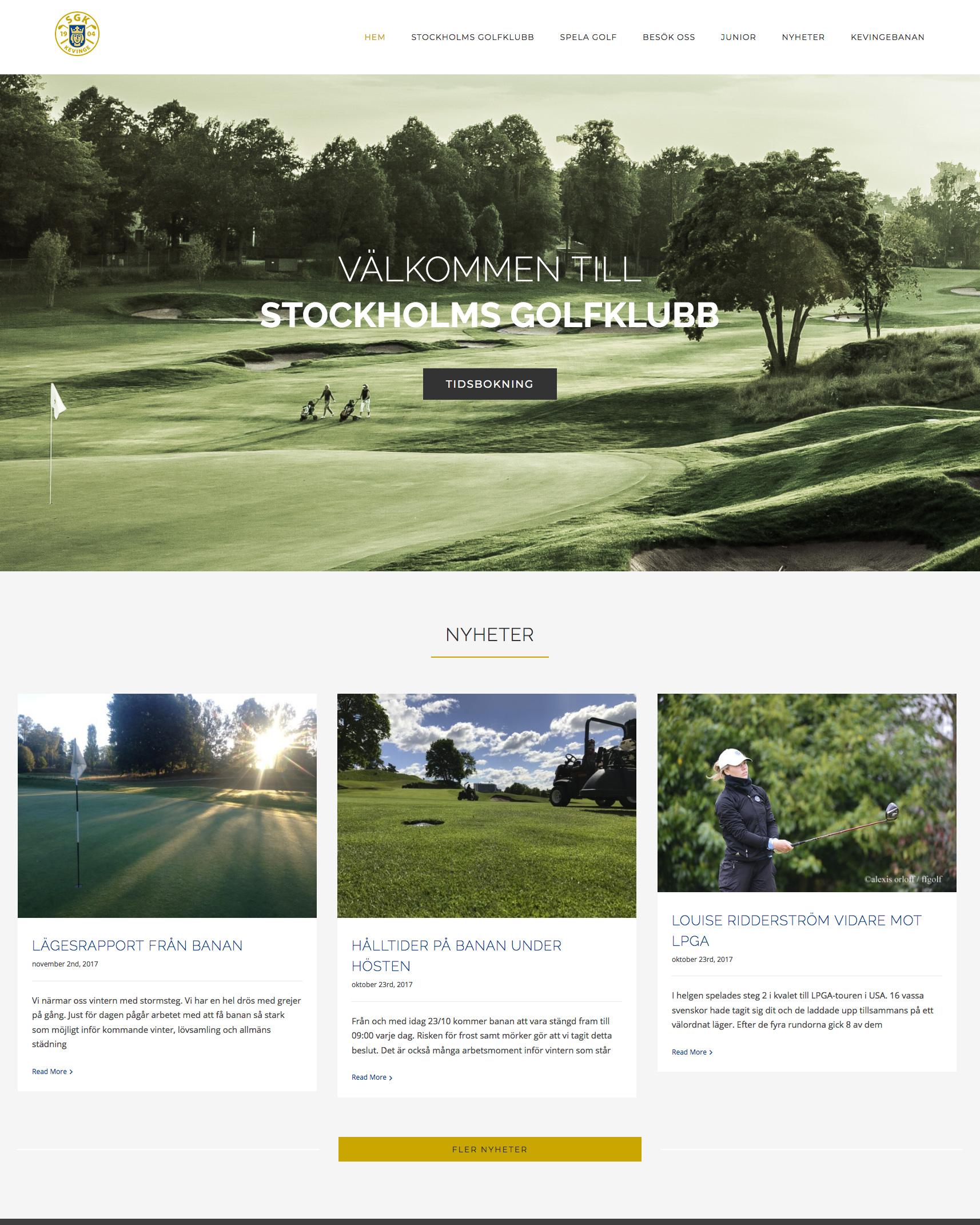 Hem - Stockholms Golfklubb