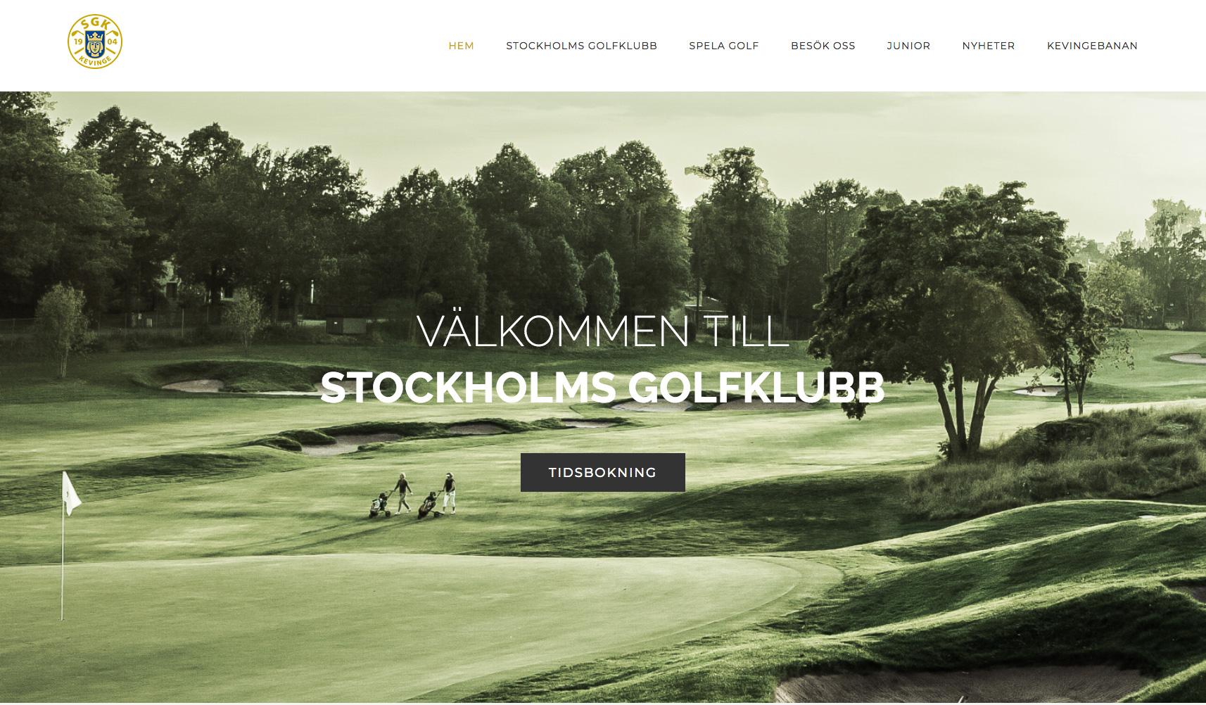 Stockholms Golfklubb släpper sin nya hemsida
