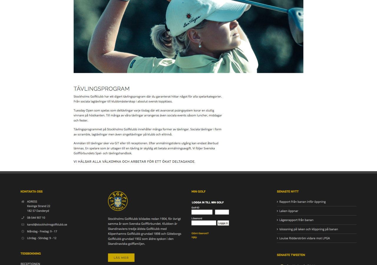 Tävla på SGK - Stockholms Golfklubb