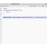 Kod i functions.php som styr bildstorlek.