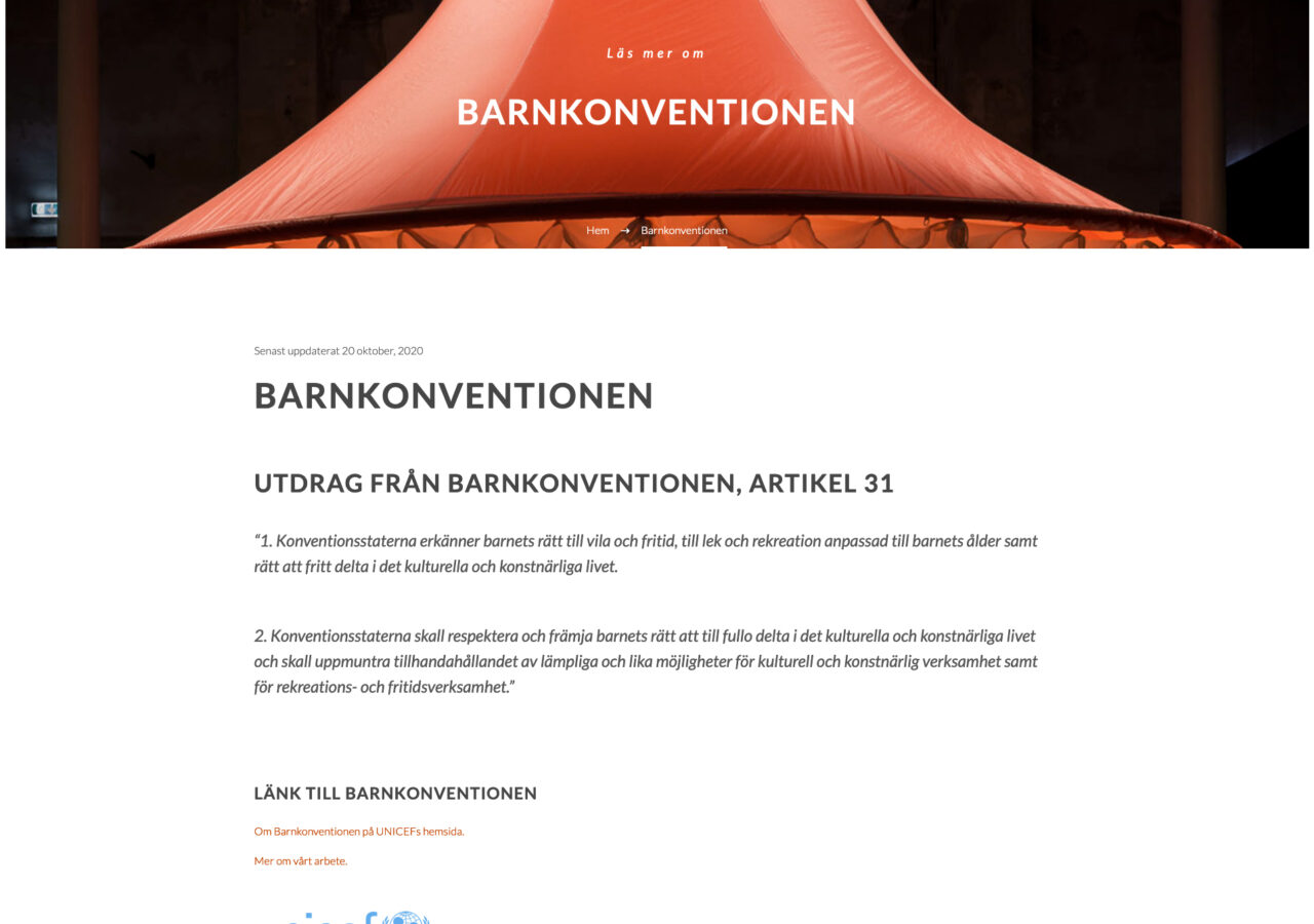 Barnkonventionen - Artikel 31